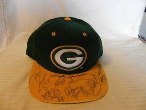 Green Bay Packers Multi-Signed Hat 1996 Brett Favre, Fritz Shurmur + 5 Others