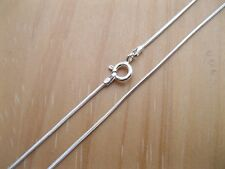 925 Sterling Silver - 1mm - Snake Chains Jewellery - Various Sizes Available