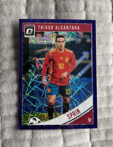 THIAGO ALCANTARA Donruss Soccer 2018-19 Optic Purple Velocity /125 #165 Spain
