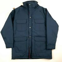 Vintage Woolrich NWT Womens Insulated Parka Jacket Coat Navy Made in USA L/XL