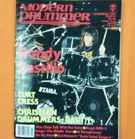 Modern Drummer Magazine Nov. 1987 Randy Castillo, Curt Cress