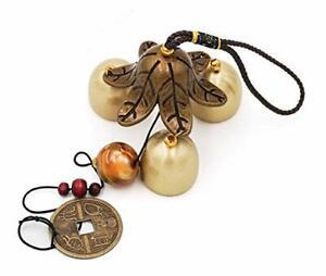 3 Bells Lucky Wind Chimes Feng Shui Wind Bell for Good Luck Home Garden Hanging