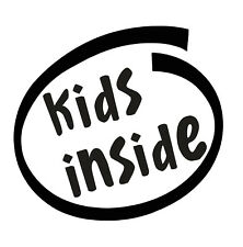 Niños dentro de Pegatinas de Vinilo Coche Furgoneta Camión Taxi Camión
