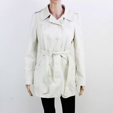 Monsoon Womens Size 10 Ivory Button Up Raincoat