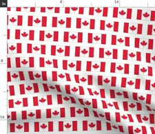 Canadian Flag Red Canada Maple Leaf North Fabric Printed by Spoonflower Bty