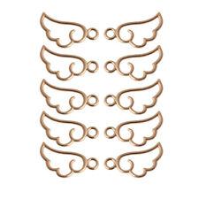 10Pcs Angel Wing Metal Frame Pendant Open Bezel Setting Resin UV Jewelry Charm