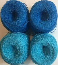 Lace yarn Cristal Colors 110A/30. Acrylic/Rayon. 900 yards 1 set of 4