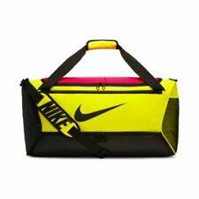 Nike Medium Gym Duffel Bag Adjustable Strap NEW CU9091-757 VOLT RED