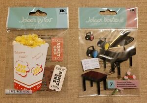 Jolee's Boutique Dimensional Stickers Piano Recital  and Movie Popcorn