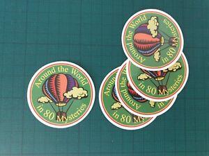 Hot Air Balloon sticker pack x5, Skateboard,