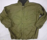 VTG 70s 1978 US ARMY JUNGLE MILITARY JACKET LARGE SCOVILL GRIPPER ZIPPER