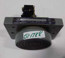 ALLEN BRADLEY 600V TYPE 13 SER C PUSHBUTON 800P-1F1BBS