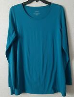 Pure Jill J Jill Womens Size Medium Long Sleeve Stretch Cotton Tee