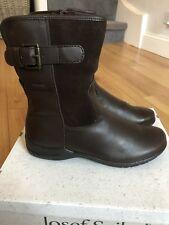 BRAND NEW JOSEF SEIBEL FABIENNE 45 ladies fur ankle boot-brown leather UK 8/42