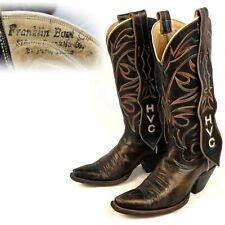 1950s 1960s Franklin Boot Co Mule Ear Custom Vintage Cowboy Boots