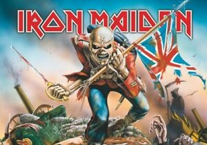 IRON MAIDEN  Textile poster fabric flag THE TROOPER