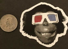 Monkey 3D Vision Humor Sticker Skateboard Cell Laptop Decal