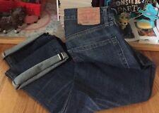"""LVC Vintage Levis 505 0217 Big E Redline Selvedge Denim Jean. Size 33x29"""" Inc."""