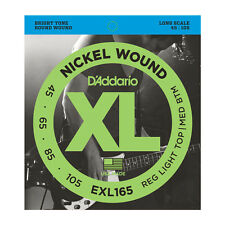 D'ADDARIO ESXL165 Doppio Ball End NICHEL ARROTOLATE Bass guitar Strings.045 -.105