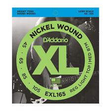 D'Addario ESXL165 Double Ball End Nickel Wound Bass Guitar Strings .045 -.105