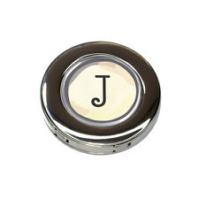 Letter J Typewriter Key Foldable Purse Handbag Hook Hanger Holder