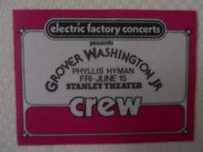 Grover Washington Jr./Phyllis Hymam June 15-CREW PASS-Stanley Theater Pittsburgh