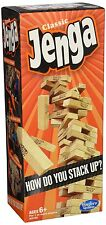 Jenga Classic Game by Hasbro Family Fun Hardwood Build Stack Blocks for All Ages