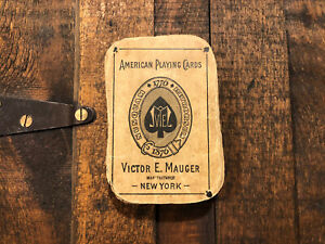 1876 Victor Mauger Centennial Playing Cards Antique Vintage Wild West NYCC USPCC