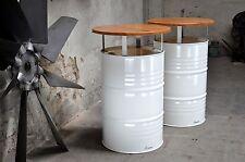 Stehtisch Bartisch Tresentisch aus 200l Fass Ölfass Metallfass Tischplatte 70cm