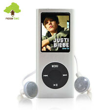 "NEU NOZA TEC 1.8"" LCD MP3 MP4 Video Stereo Player Musik Radio Micro Silber 16GB"