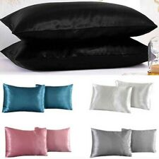 2/4/1Pcs Soft Mulberry Silk Pillowcase Satin Pillow Cases Comfy Covers Decortion