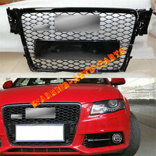 For Audi RS4 Front Gloss Black Sline Euro Quattro Grille A4 S4 B8 8K Avant 09-12