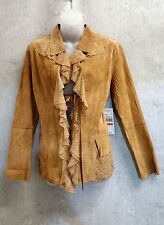 Karen Kane Suede and Lace Jacket Coat  sz Small NEW WITH TAGS