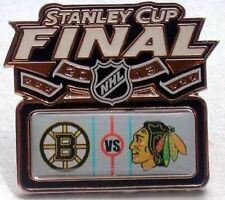CHICAGO BLACKHAWKS VS BOSTON BRUINS STANLEY CUP 2013 HEAD TO HEAD FINALS PIN