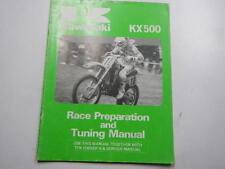 1986 KAWASAKI KX500 RACE PREPARATION AND TUNE MANUAL 86 KX 500 99920-1387-01