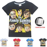 Kids Boys Girls Fgteev The Family Game Short Sleeve Cartoon T-Shirts Top Clothes