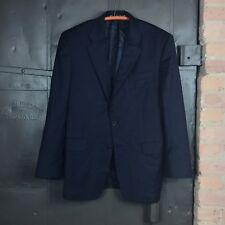 Hickey Freeman 'Madison' Soild Navy 2-Button Sport Coat Jacket Men's 40 R