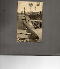 WW1 German Gun  defensive works at Leugonboom A moere Belgium unposted card