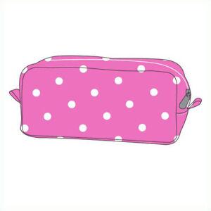 Pink & White Polka Dot Dotty Make Up Makeup Cosmetic Beauty Bag BIG SALE