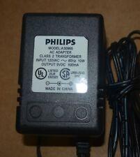 Philips AC/DC adaptor model A30965 9VDC 600mA
