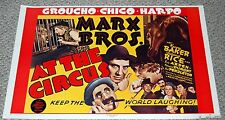 Marx Brothers AT THE CIRCUS 1971 Celestial Arts Movie Poster MP9 Comedy