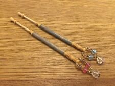 PAIR OF MALCOLM FIELDING LACE BOBBINS SPANGLED