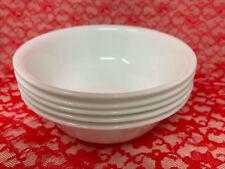 "Corelle WINTER FROST White Soup Cereal Salad Bowls 6-1/4"" Set of 5 (18-2234C)"