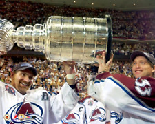 RAY BOURQUE & PATRICK ROY 2001 STANLEY CUP CHAMPS 8X10 Photo COLORADO AVALANCHE