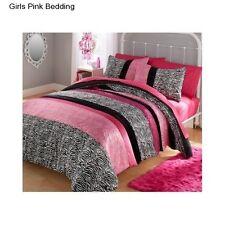 New Girl's Pink Full / Queen Size Comforter Set Bedding Reversible Comforters