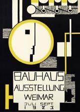 Vintage BAUHAUS 1923 EXHIBITION (R.BASCHANT) 250gsm Reproduction A3 Poster