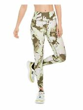 CALVIN KLEIN Womens Green Printed Active Wear Leggings Size: M