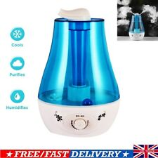 3L High Capacity Humidifier LED Night Light Air Fresher with UK Plug for Bedroom