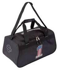 Harley-Davidson #1 RWB Logo Sports Duffel Bag w/ Strap - Black 99418-NUMBER1