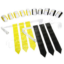 Yellow and Black Football Flag Set - 12 Belts with 36 Flags (18 per color)